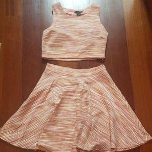 Aqua by bloomingdales crop top and skirt set
